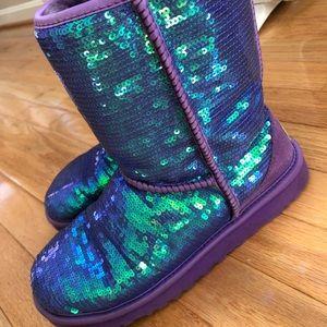 UGG Purple Sequin Boots